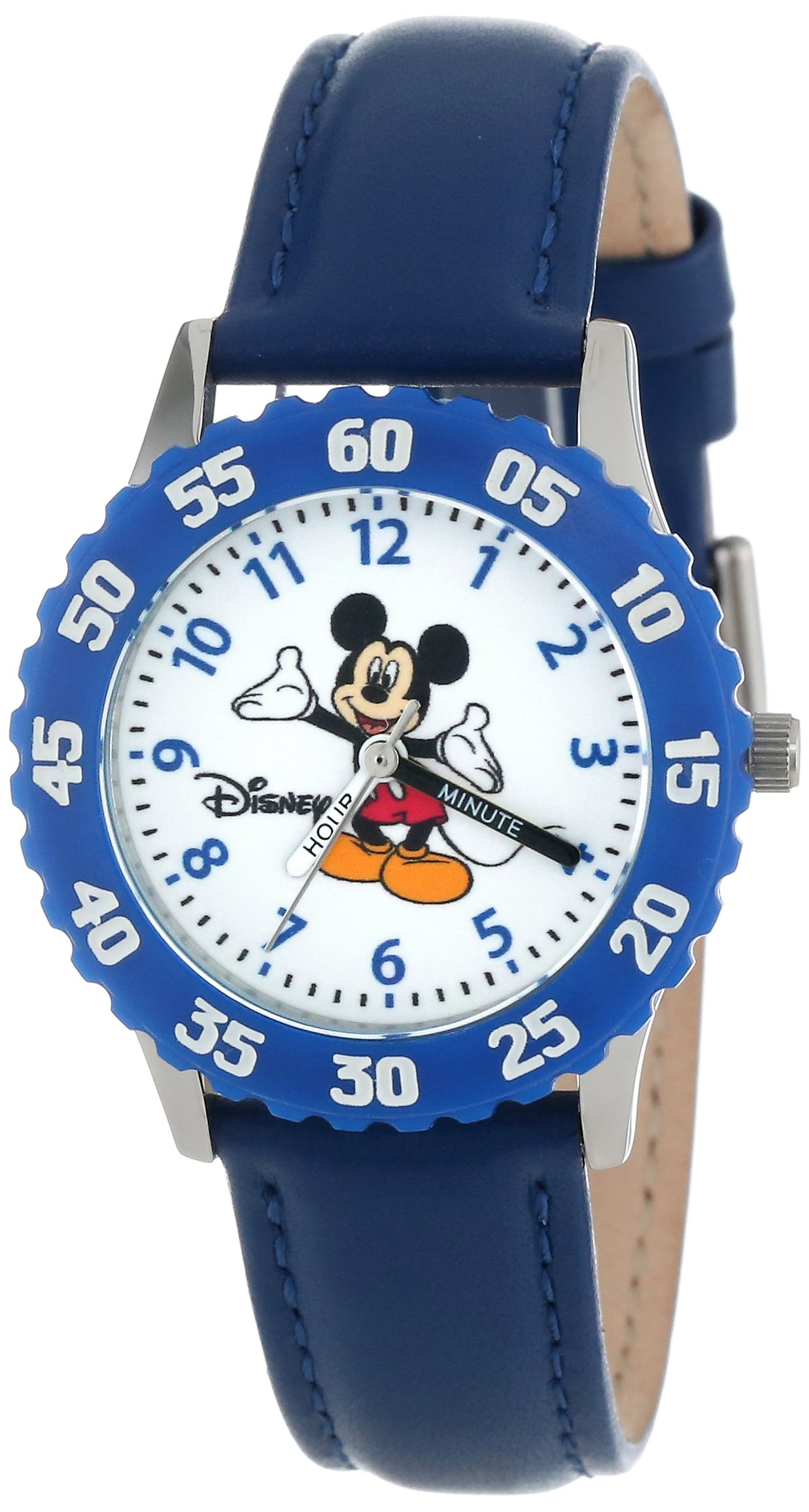 Disney Kids' W000005 Mickey Mouse Stainless Steel Time Teacher Watch by Disney