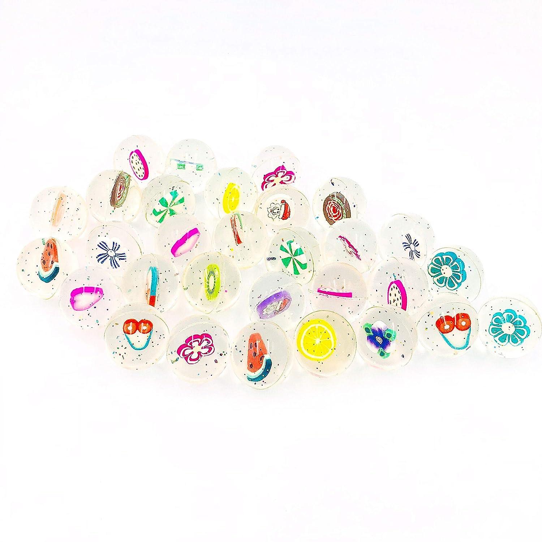 Bemomo 28pcs Clair Balles rebondissantes Fruits Mini Bouncing Ball en Caoutchouc pour fête–Merveilleux Cadeau Bemomo Factory