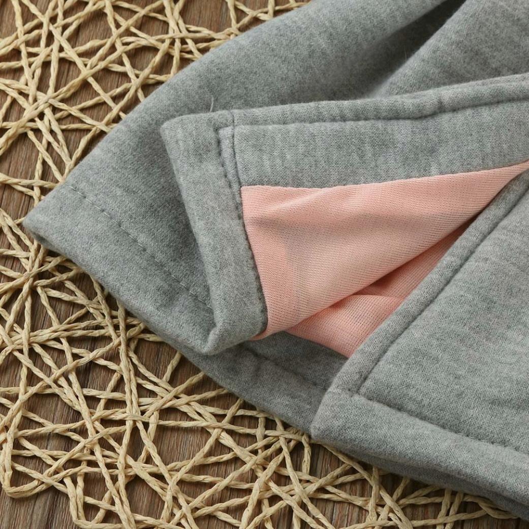 Sagton Baby Infant Girls Winter Warm Coat Jacket Chuzzle Thick Cold Resistant Clothes 0-12M, Gray