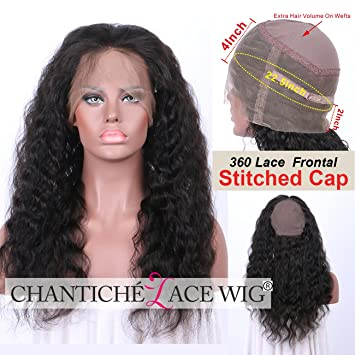 Amazon.com   Chantiche Best Soft Curly 360 Frontal with Cap for Making  Brazilian Remy Human Hair Wigs for Black Women with natural Hairline and  Baby Hair ... 7f7d65f824