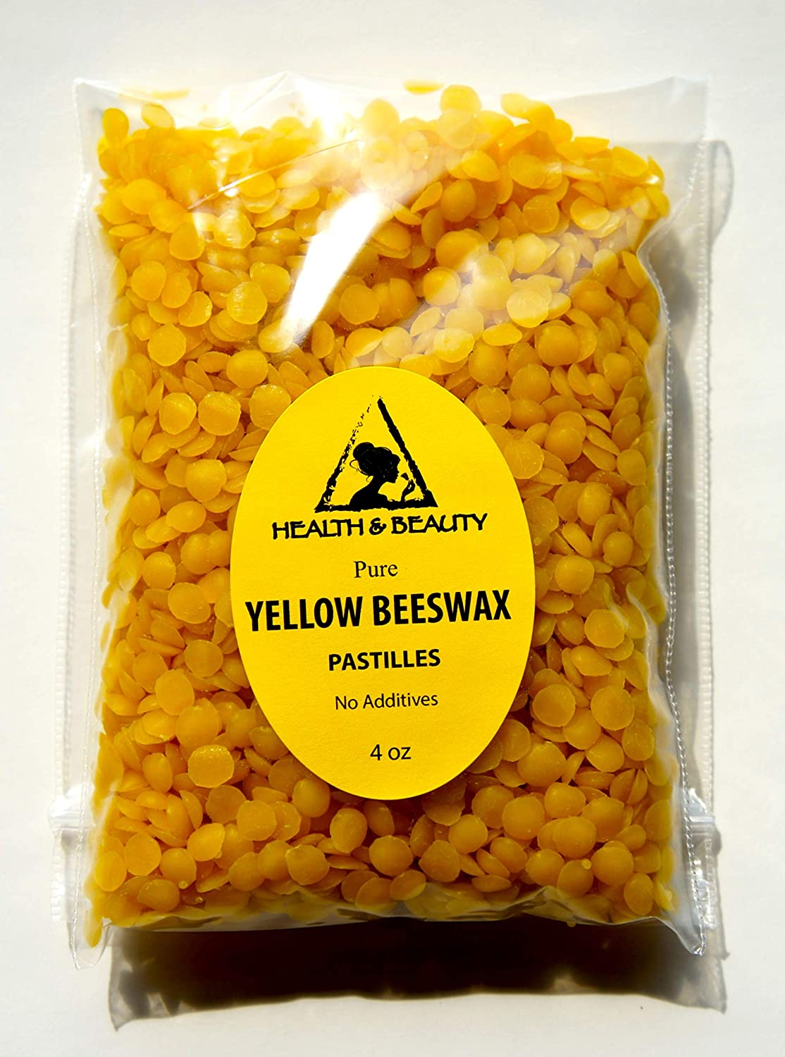Yellow Beeswax Bees Wax Organic Pastilles Beads Premium Prime Grade A 100% Pure 4 oz, 113 g H&B OILS CENTER Co.