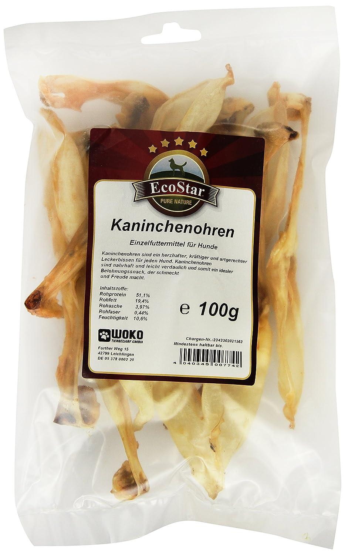 EcoStar Hunde Snack Kaninchenohren 100g, 2er Pack (2 x 100 g) 7742