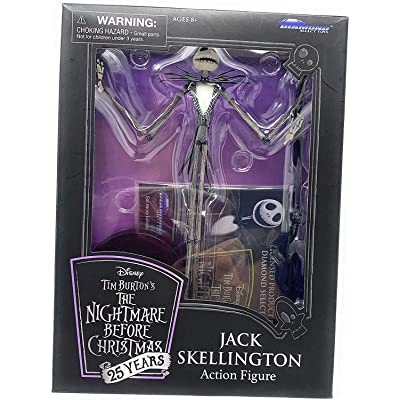 DIAMOND SELECT TOYS - Disney - Nightmare Before Christmas - 25 Years - Jack Skellington - Action Figure - 25th Anniversary Collectable: Toys & Games