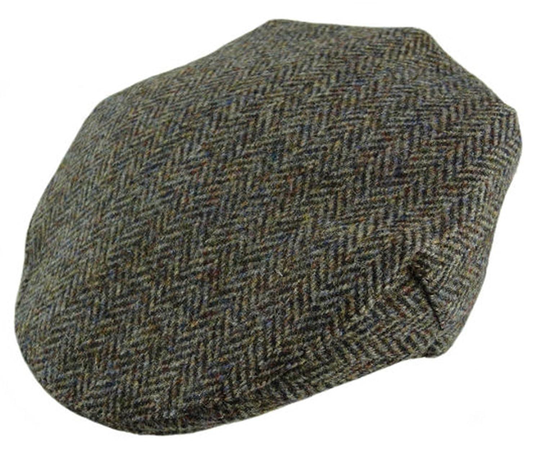 Harris Tweed Mens Brown Herringbone Flat Cap - One Size - Handwoven In  Scotland by Glen Appin  Amazon.co.uk  Clothing a6268633eef1