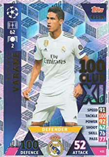 match attax 2018//2019 18 19 Champions League Raphael Varane 100 XI Club card