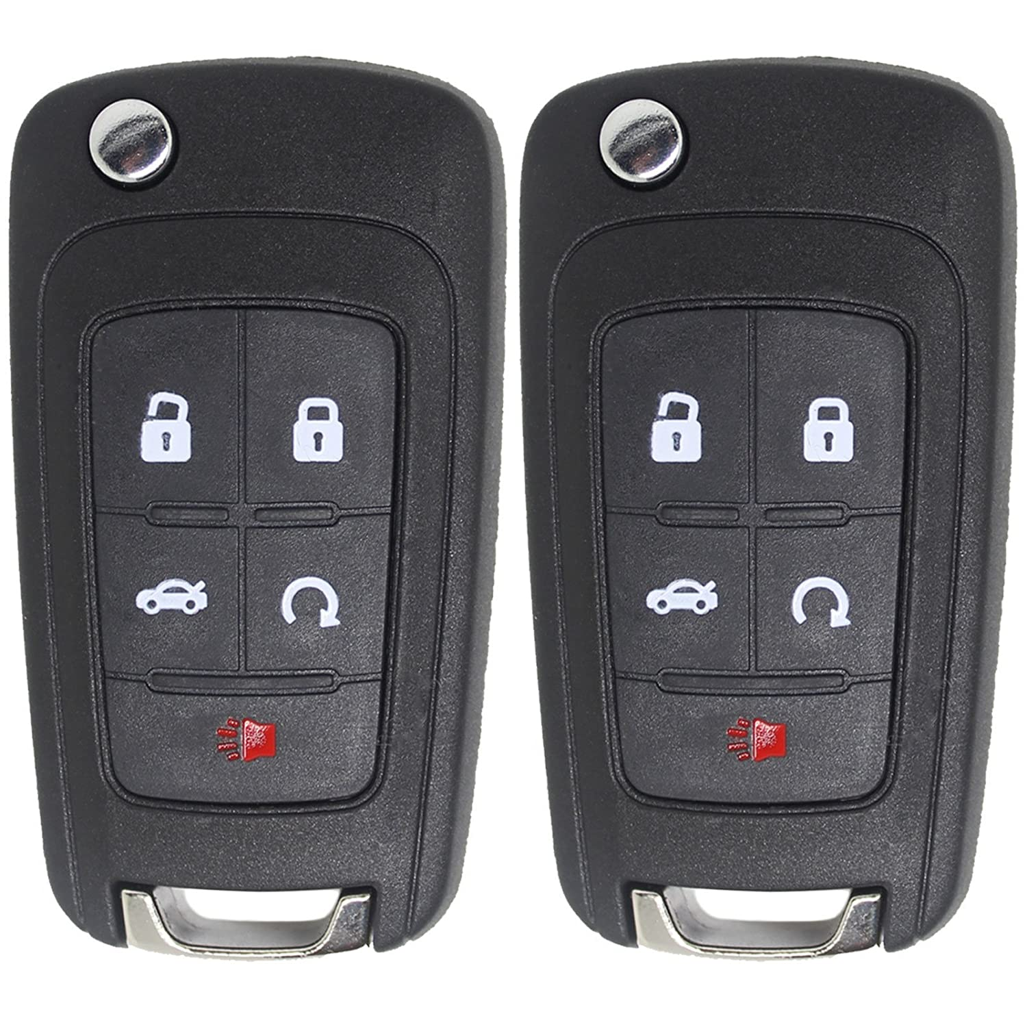 OEM Chevrolet Malibu Keyless Entry and Flip Key 5 Button Remote OHT01060512 for 2013 to 2015 Chevy Malibu
