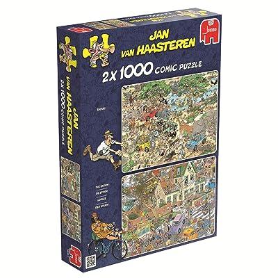 Jumbo Safari & The Storm Jigsaw Puzzle (2x1000 Piece): Toys & Games