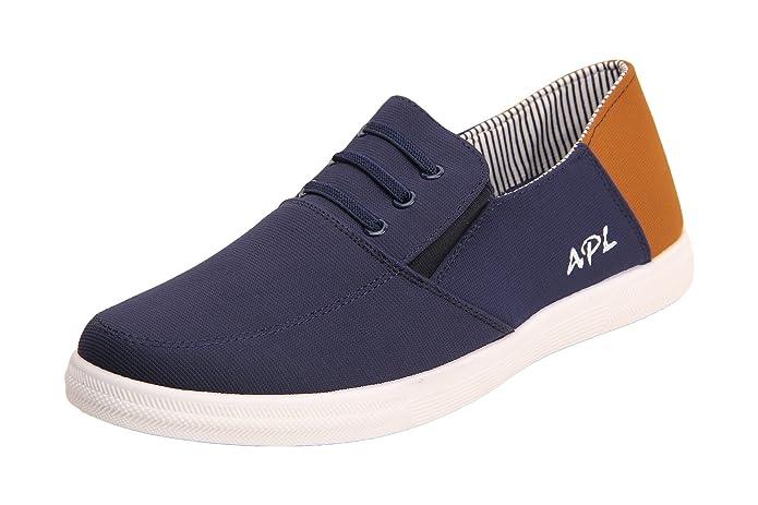 Buy APL Men's Blue and Tan Sneakers - 9