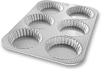 USA Pan 4.56 x 4.06 x 1.87 Inches Aluminized Steel Mini Tart Pan