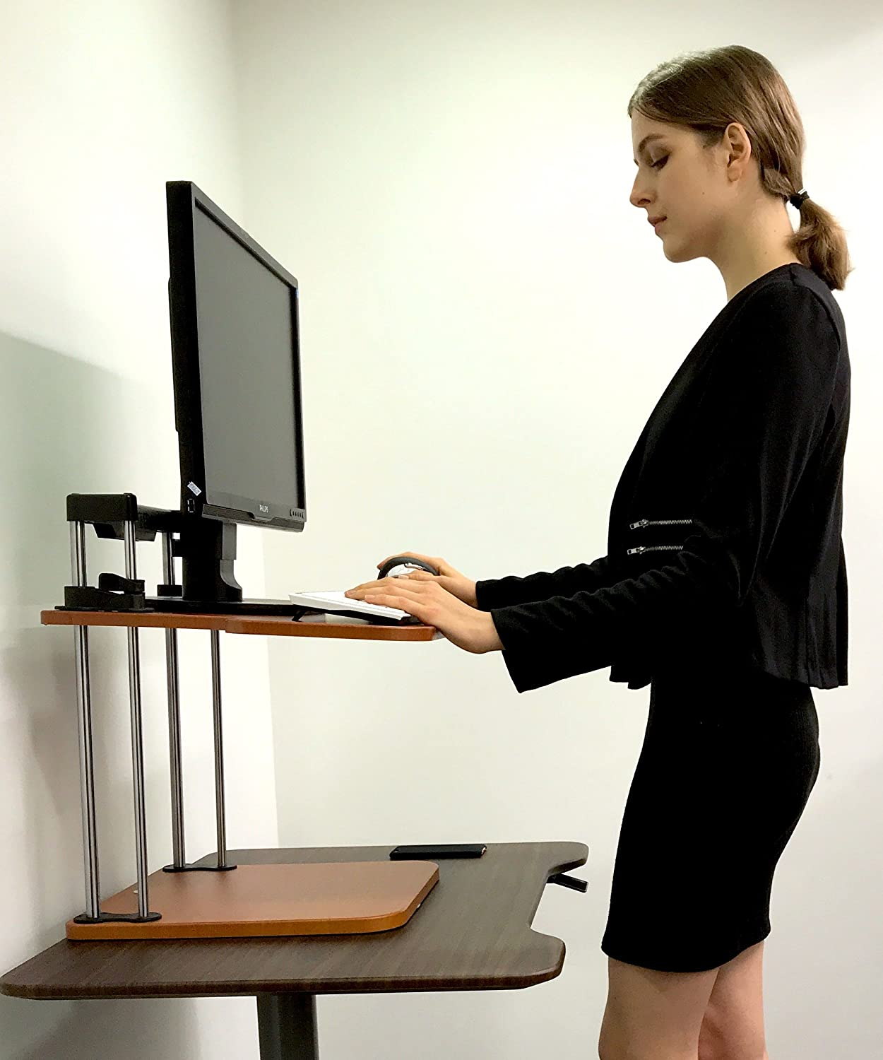 Adjustable Sit to Stand Standing Desk On Top Of Your Existing Desk ...