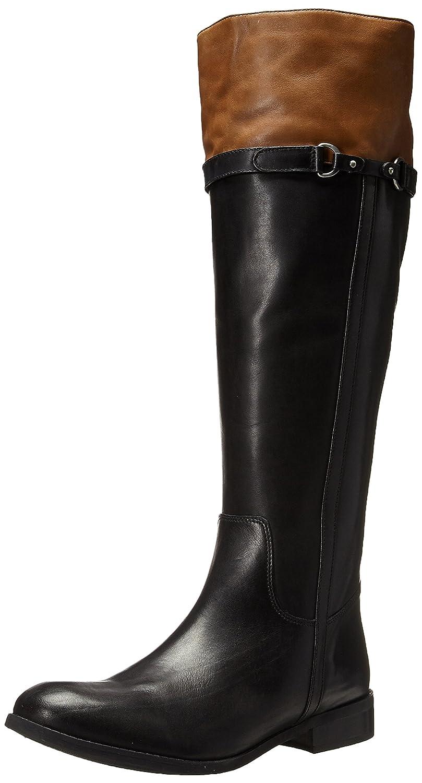 CLARKS Women's Pita Topeka Riding Boot B00U7LNGQM 6 B(M) US|Black Leather
