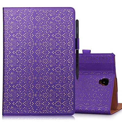 WWW Samsung Galaxy Tab S4 10 5 SM-T830/SM-T835 Tablet Case,[Luxury Laser  Flower] Premium PU Leather Case Protective Cover with Auto Wake/Sleep  Feature