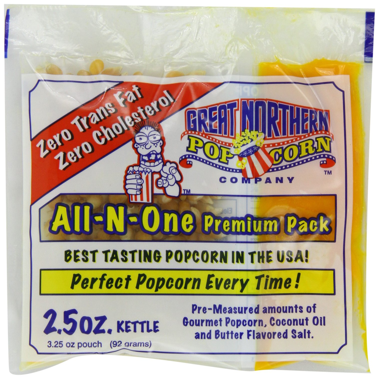 4099 Great Northern Popcorn Premium 2.5 Ounce Popcorn Portion Packs, Case of 24