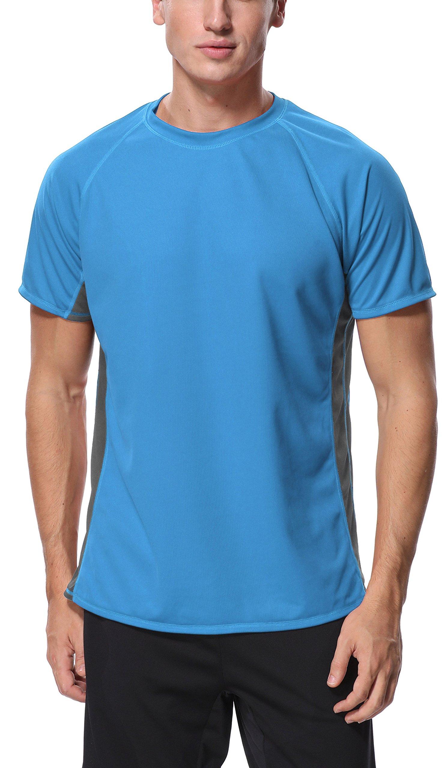 Charmo Loose Swim Shirt Surf Shirt Rash Guard Swimming UV Shirt Short Sleeve Swim Top M by Charmo