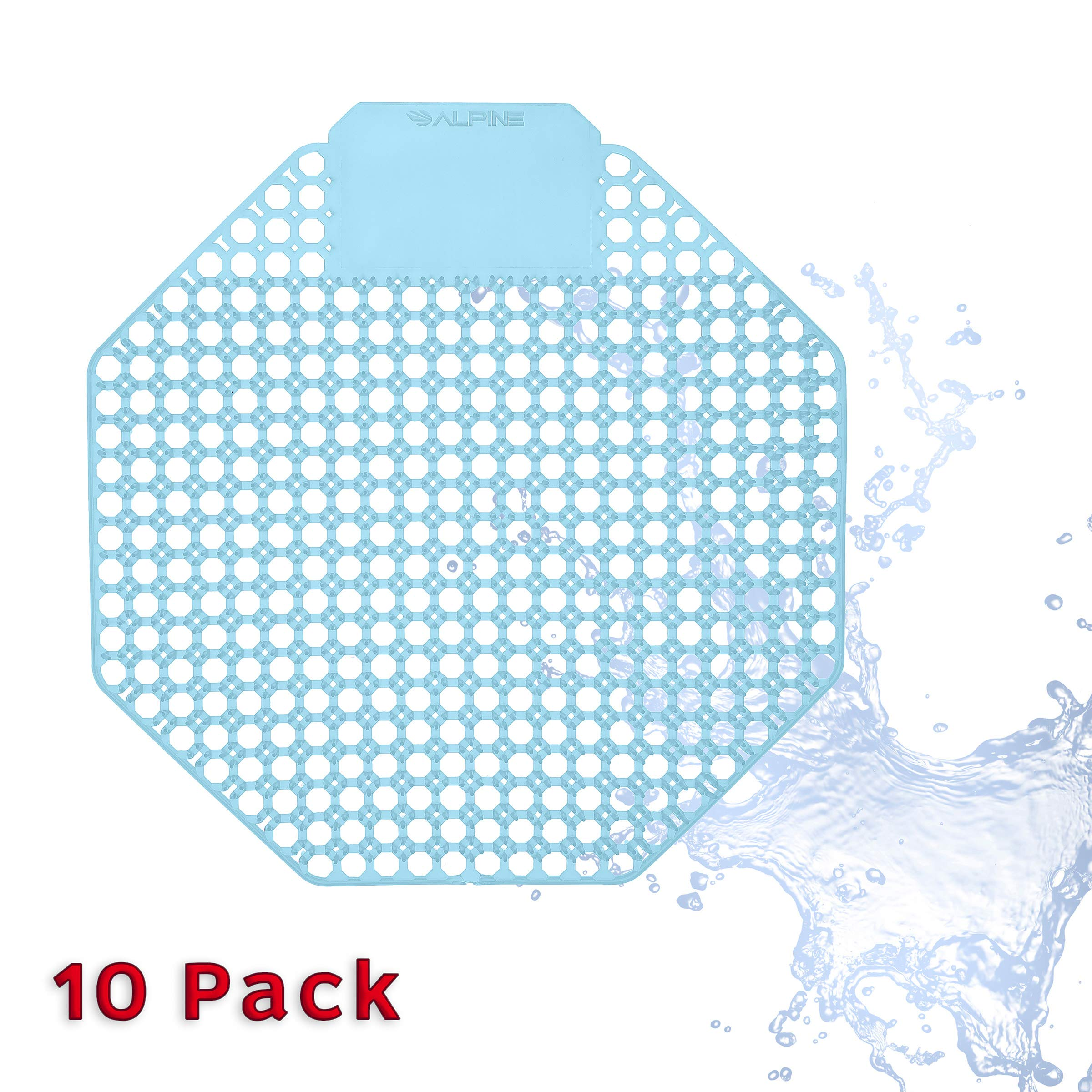 Urinal Screen Deodorizer (10 Pack) - Scent Lasts for Up to 5000 Flushes – Anti-Splash & Odor Neutralizer – Ideal for Bathrooms, Restrooms, Office, Restaurants, Schools - Blue - Ocean Mist Scented