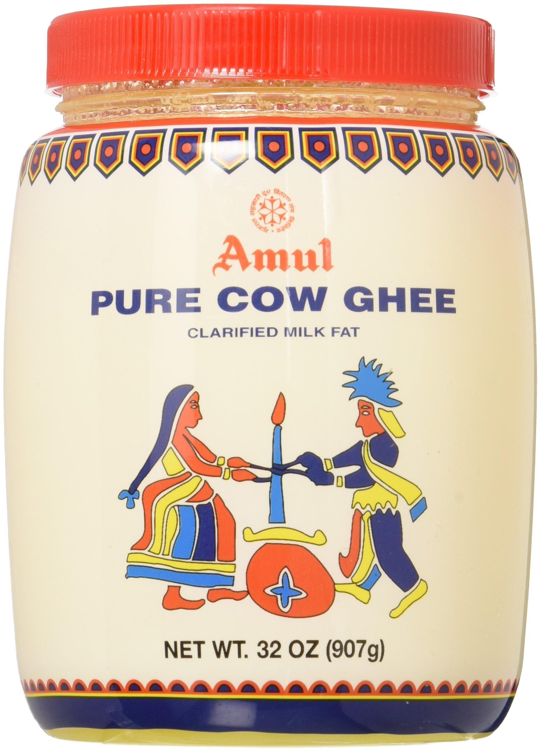 Amul Ghee (Clarified Butter), FDA Approved, 1 L (32 oz) Jar