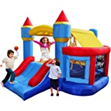 BestParty Kingdom Castle Inflatable Bouncer with Ball Pit Bounce House, Without Blower