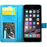 for iPhone 6 / 6S FOSO(TM) High Quality PU Leather Magnetic Flip Cover Case (Gorgeous Blue)