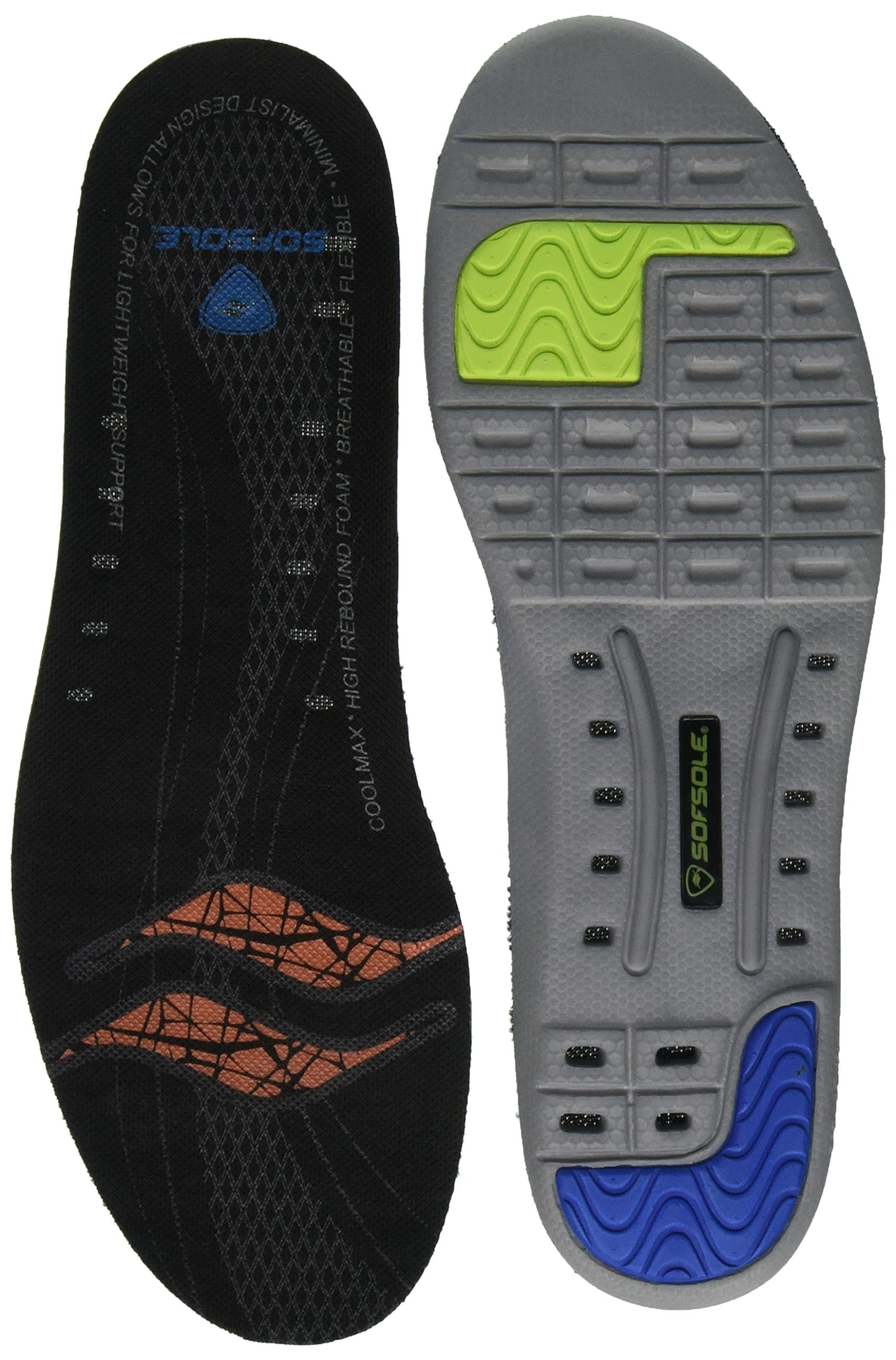 Sof Sole Thin Fit Lightweight Performance Insole, Women's Size 5-7.5