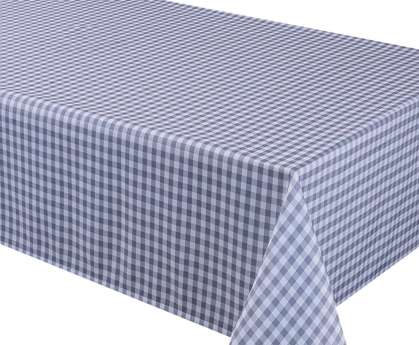 Home Bargains Plus 70 Inch Round Gingham Check Print Indoor/Outdoor Fabric Tablecloth - Red