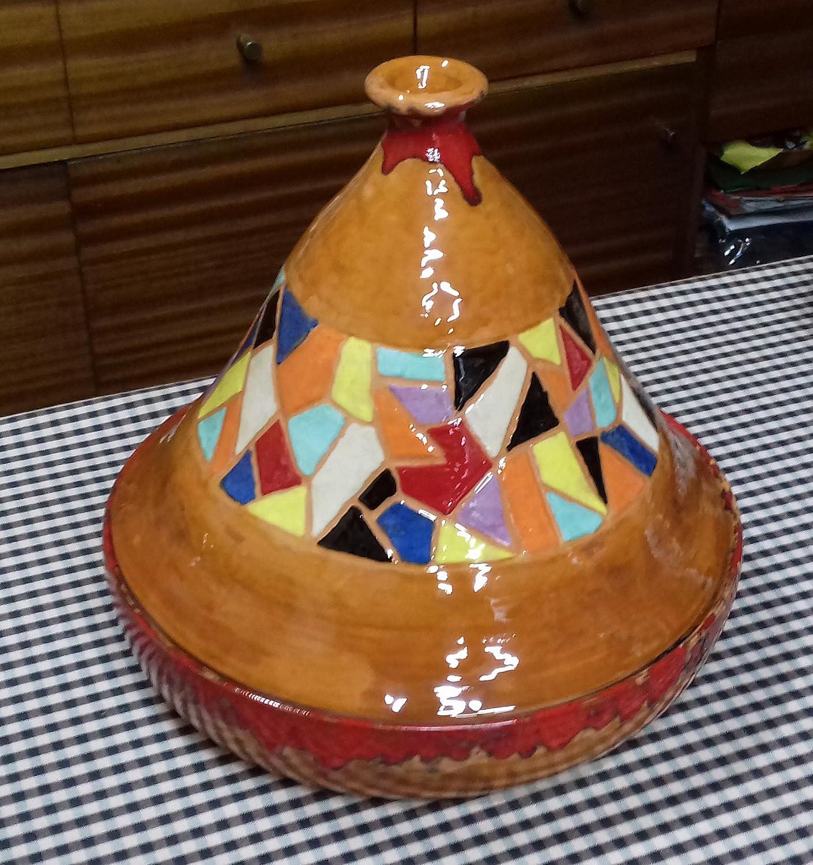 Tajin , Para cocinar al estilo Árabe. Hecho y esmatado a ...