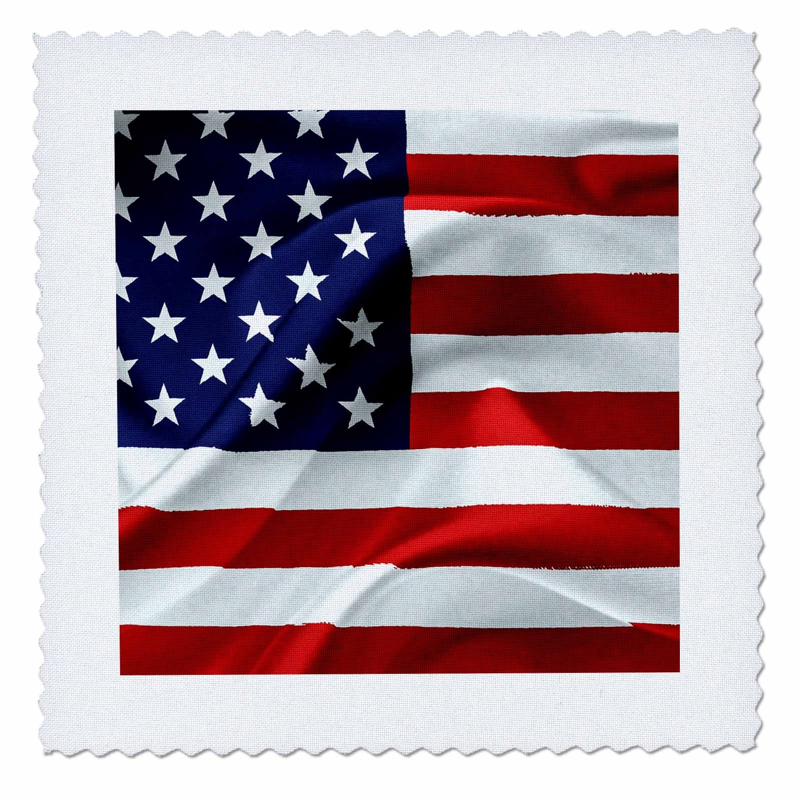 3dRose Alexis Design - America - Flag of the United States Of America. Stars to the left - 14x14 inch quilt square (qs_270543_5) by 3dRose