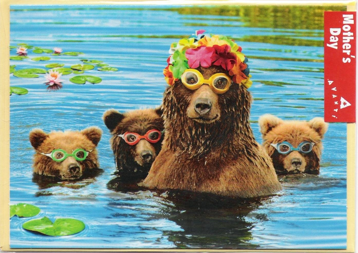 Mama Bear With Cubs Funny Mother's Day Card