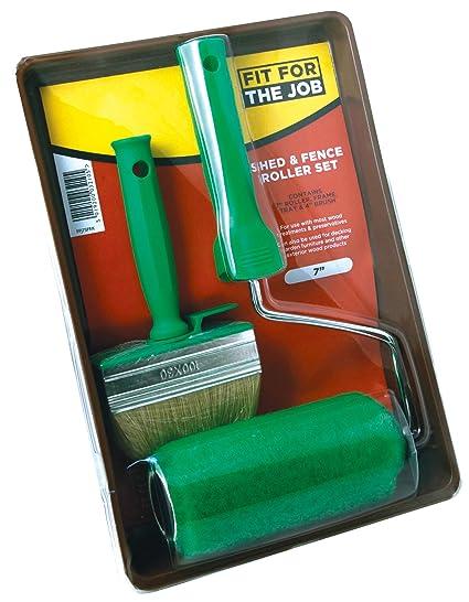 FFJ - Juego de rodillo y brocha para vallas y casetas