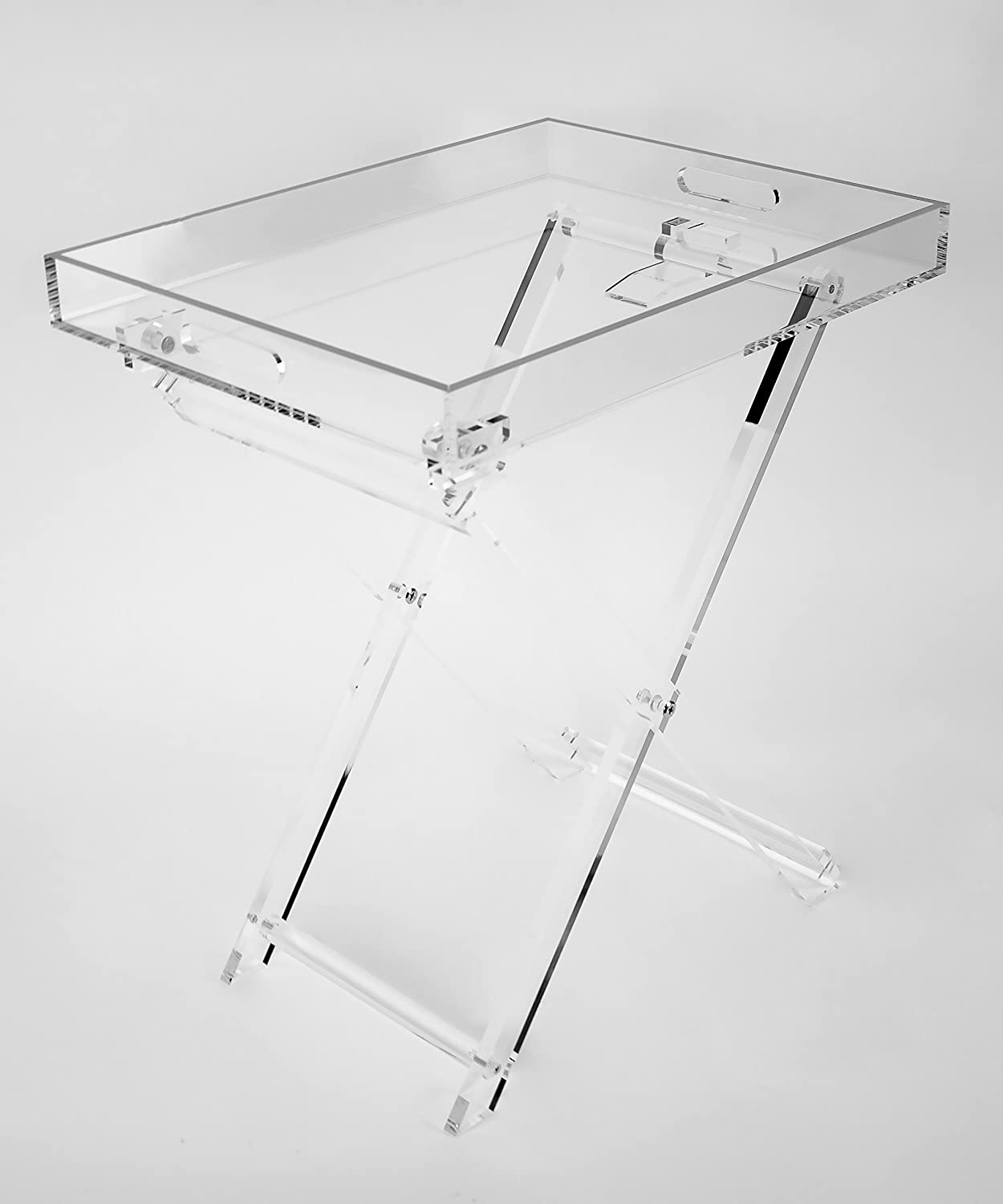 Designstyles Acrylic Decor Fordable Tray Table