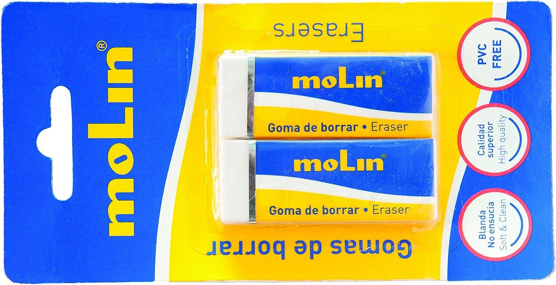 molin Pack de 2 gomas de borrar: Amazon.es: Oficina y papelería