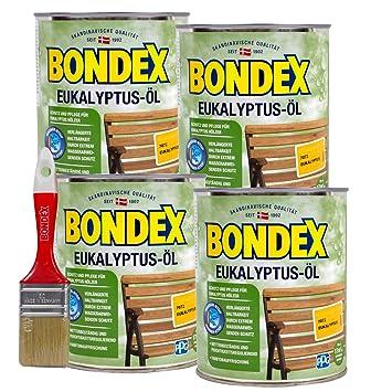Bondex Eukalyptus Öl 3 Liter, Inkl. Pinsel   Schutz  Und Pflegeöl Für