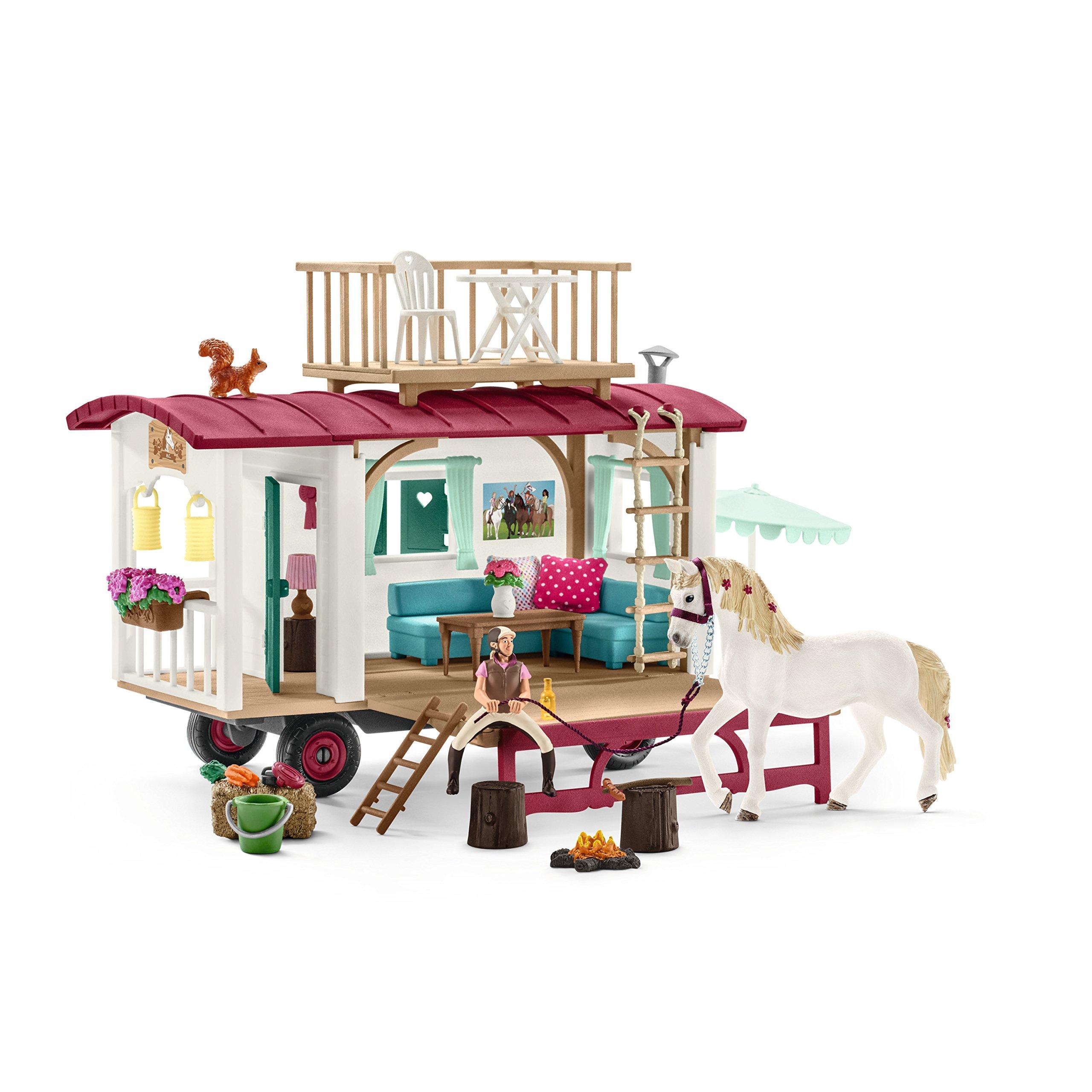 Schleich 42415 Caravan for Secret Club Meetings Play Set, Multicolor by Schleich (Image #2)