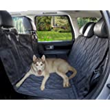 SUMCOO Nonslip Waterproof Leather Pet Dog Back Seat Covers Protector and Hammock for Car &Trucks Black