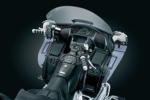 Kuryakyn 3736 Motorcycle Accent Accessory: Glove Box Accents for 2001-10  Honda Gold Wing GL1800 Motorcycles, Chrome, 1 Pair