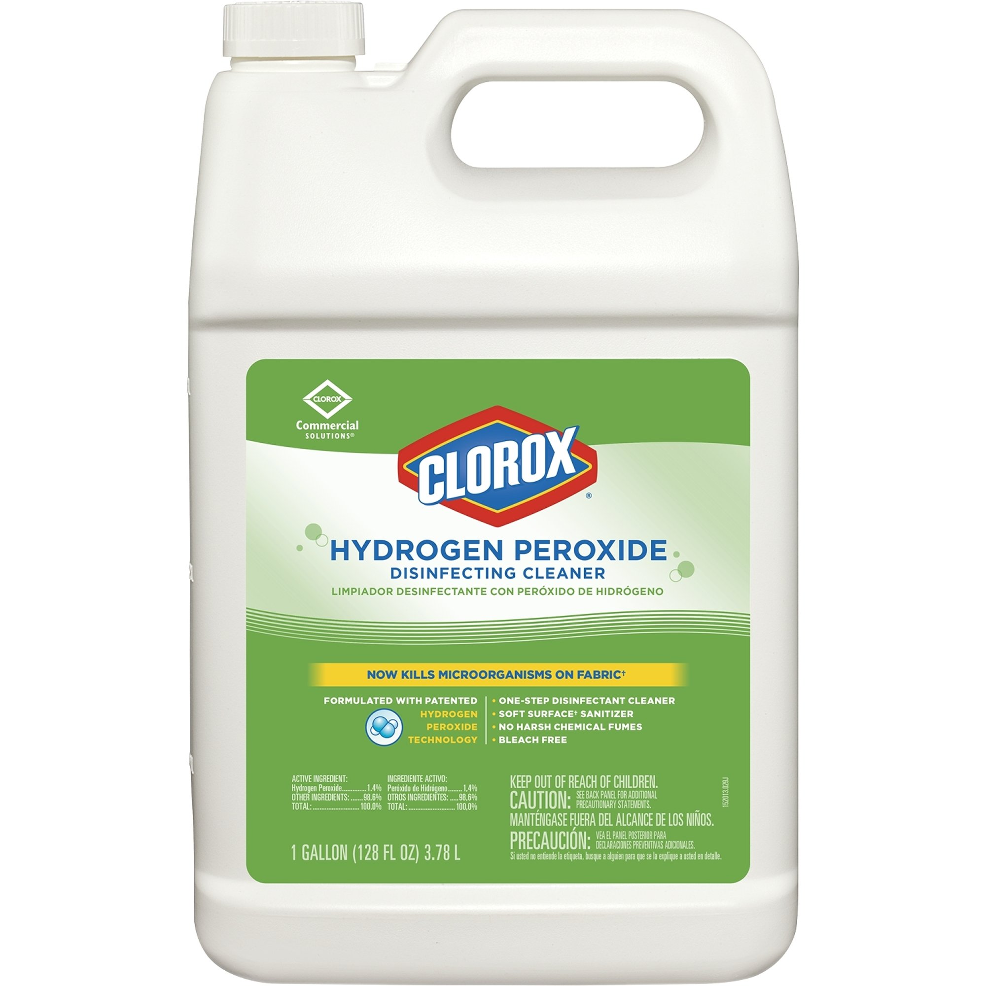 Clorox Hydrogen Peroxide Disinfecting Cleaner Refill, 128 Ounce, 4 Refills/Case (30833)