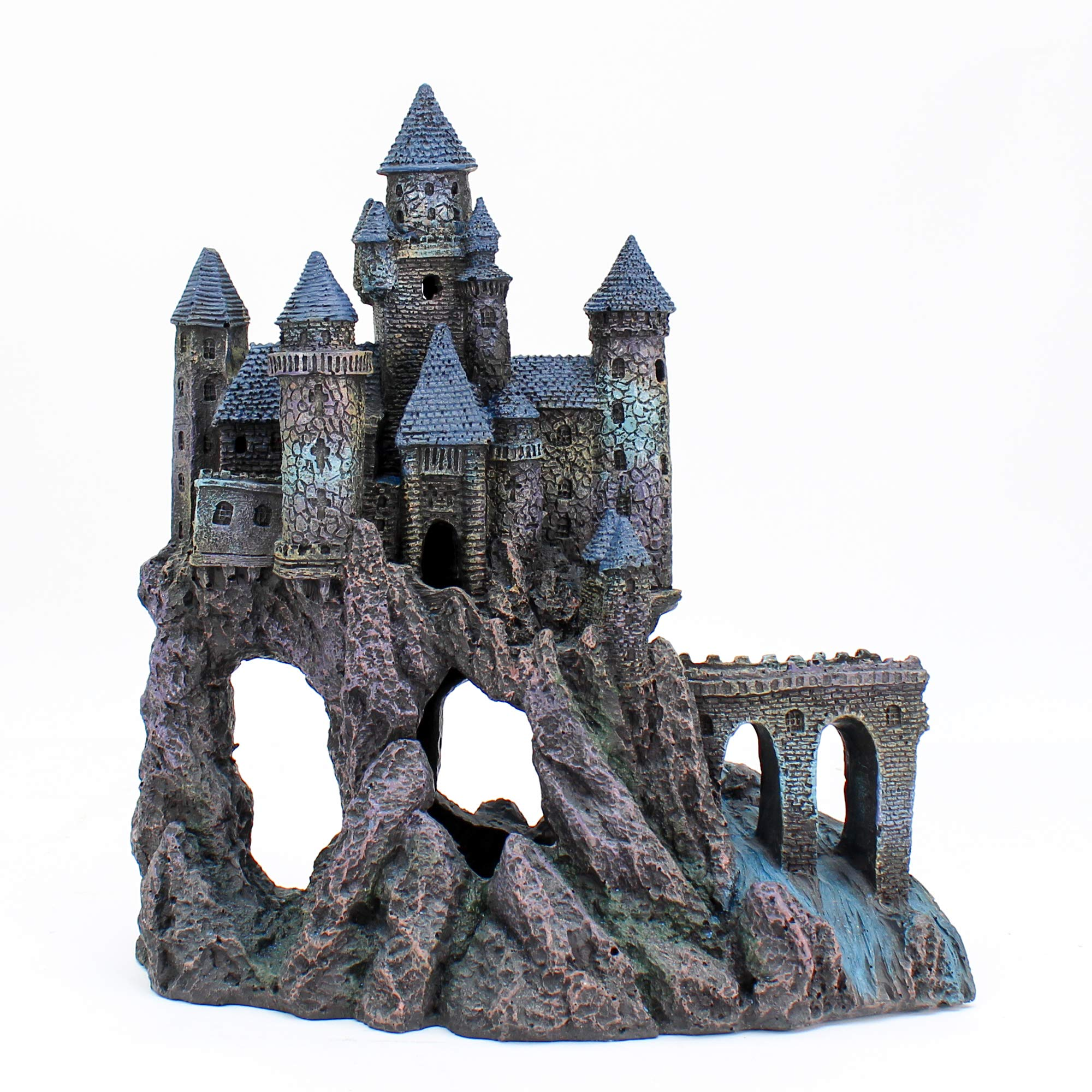 Penn Plax Castle Aquarium Decoration Hand Painted with Realistic Details Over 14.5 Inches High Part A by Penn Plax