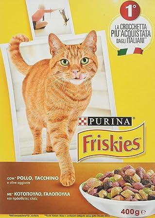Friskies Set 20 Gato Croccantini 400 Pollo Pavo Aceitunas Comida para Gatos: Amazon.es: Productos para mascotas