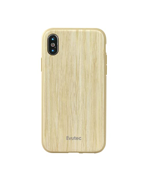 pretty nice 7fcd8 fe802 Evutec Case Compatible with iPhone Xs, AER Series Real Wood Thin Slim  Protective Phone Case- Bamboo (AFIX+ Vent Mount Included)
