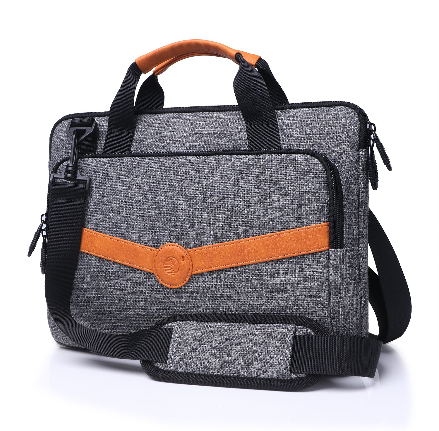 FYY Functional Series Canvas Sleeve Bag with Practical Pockets for Surface Book / Surface Book i7 - B-Grey
