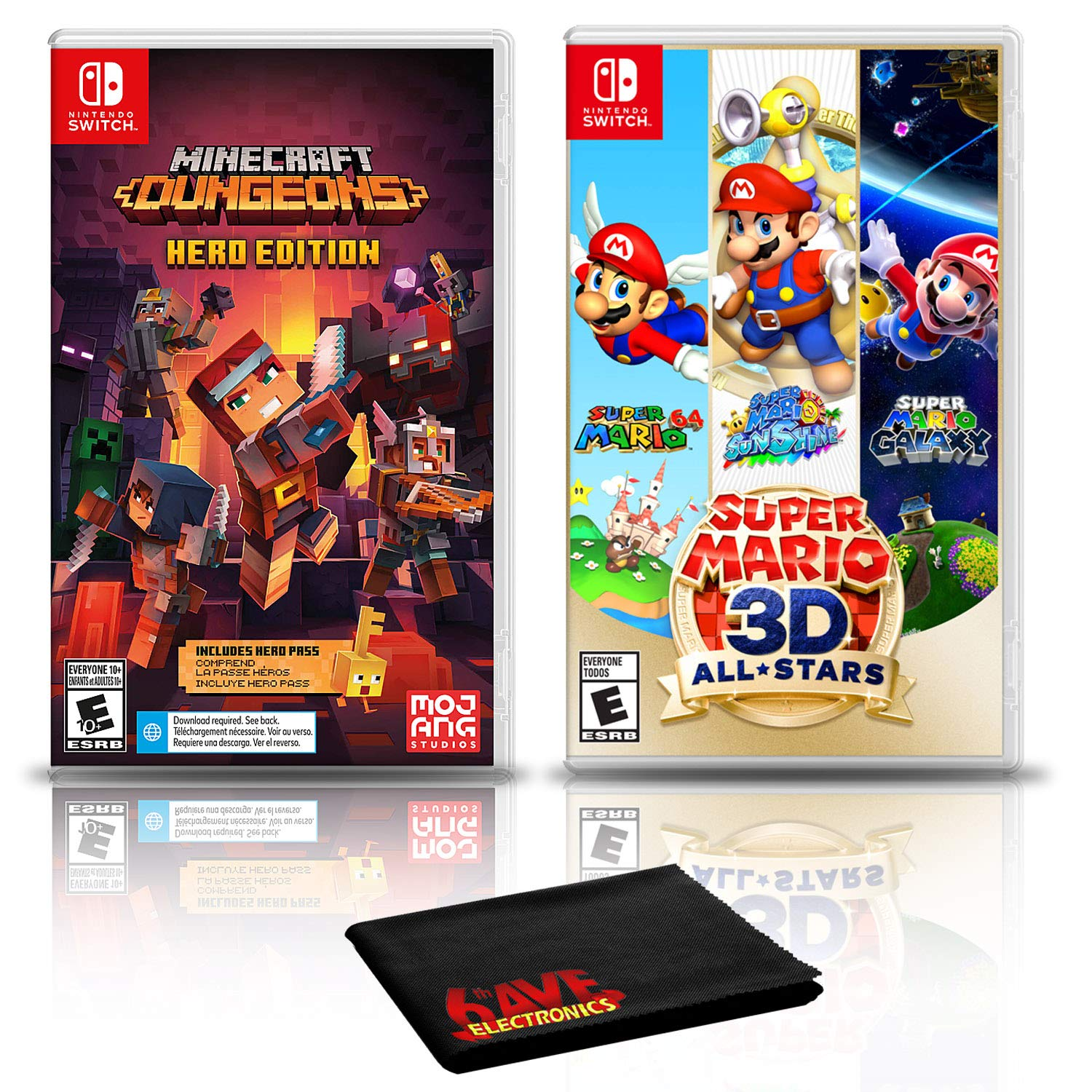 Minecraft Dungeons Hero Edition + Mario 3D All-Stars - Two Game Bundle - Nintendo Switch