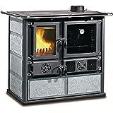 La Nordica Cocina a leña Rosa DX piedra natural Potencia térmica nominal 6.5 KW 185 M3 calefactables…
