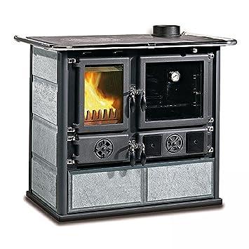 La Nordica Cocina a leña Rosa DX piedra natural Potencia térmica nominal 6.5 KW 185 M3 calefactables Color Piedra: Amazon.es: Bricolaje y herramientas