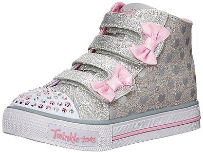 Skechers Kids Prima Sweet Spun Sneaker Little KidBig KidWhite
