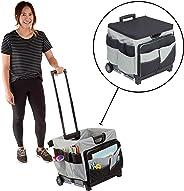 ECR4Kids MemoryStor Universal Rolling Cart and Organizer Bag Set, Moving Cart, Teacher Cart, Rolling Cart with Handle, Folds