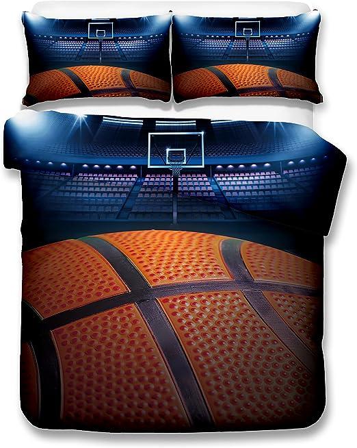 Big baloncesto 3d juego de ropa de cama de funda nórdica realista ...