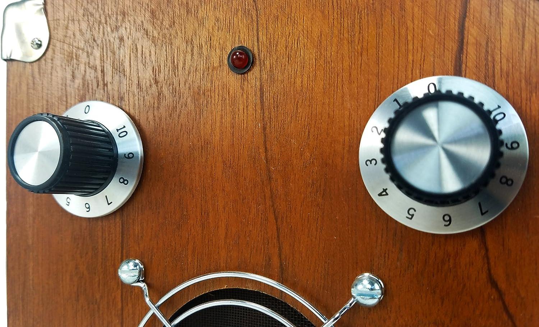 Large Black and Aluminum Retro-Style Potentiometer Knobs 2pc