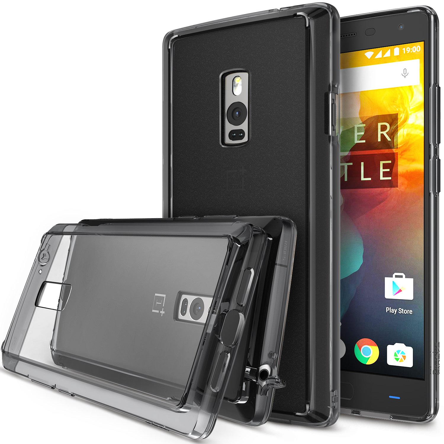 new style 53f86 69295 Ringke [Fusion] Compatible with OnePlus 2 Case Crystal Clear PC Back TPU  Bumper with Screen Protector [Drop Protection, Shock Absorption ...