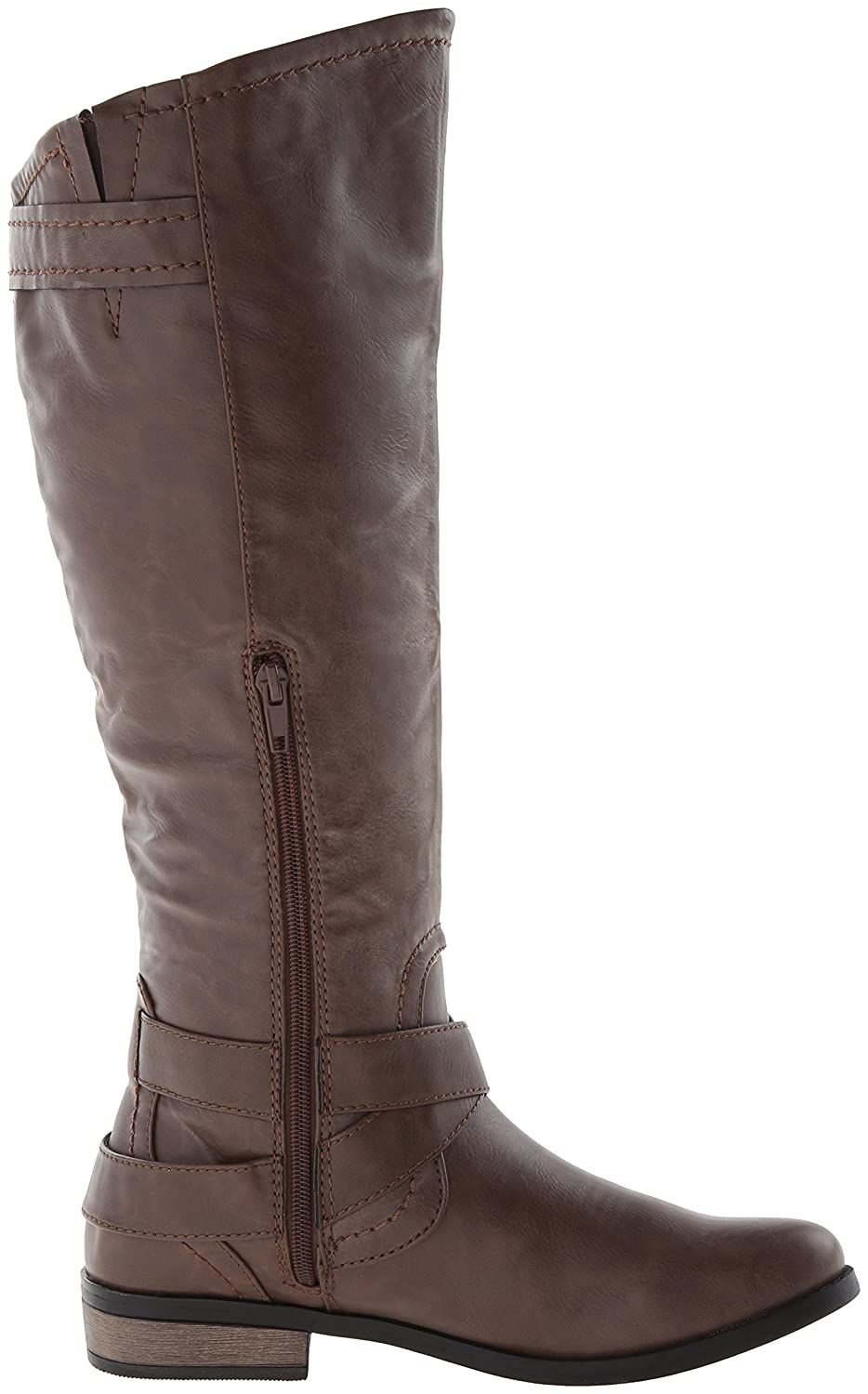 Rampage Riding Damens's Hansel Zipper and Buckle Knee-High Riding Rampage Boot - fbac8f