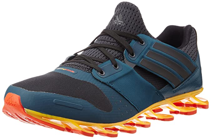 separation shoes fa6ac c4ac3 Adidas Men s Springblade Solyce Grey, Black and Blue Mesh Running Shoes - 7  UK  Buy Online at Low Prices in India - Amazon.in