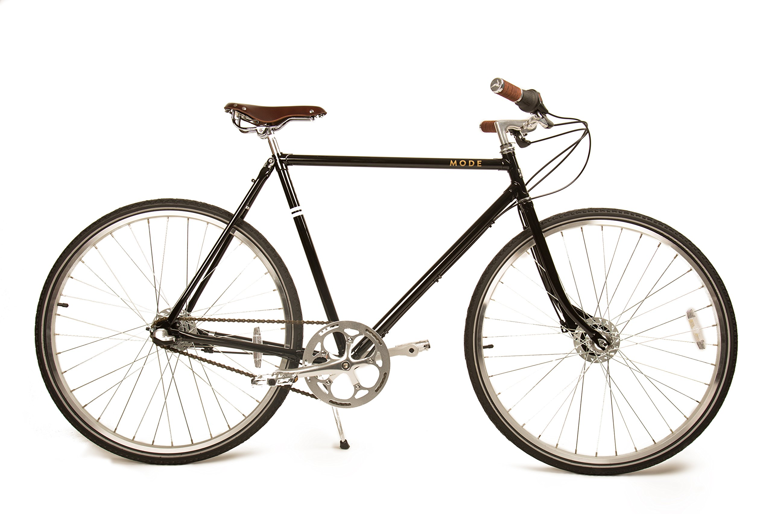 Marc 3-speed Internally Geared Upscale Roadster with Classically Lugged Frame and Fork and Buck & Wing Leather Accessories by Mozie Bicycles (Image #1)